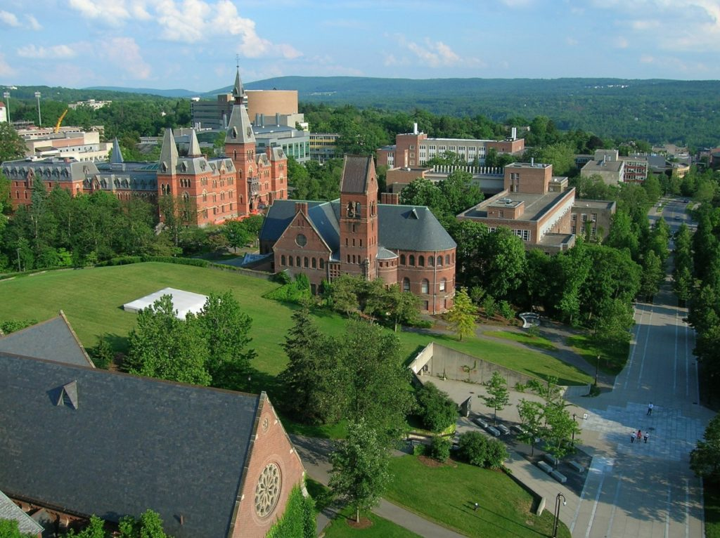 Cornell University located in Ithaca, NY